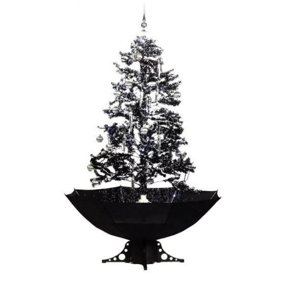 Albero-di-natale-nero-con-neve-170cm