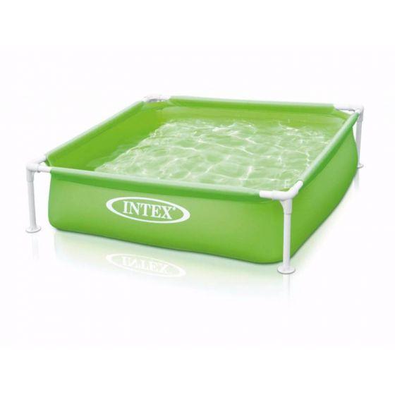 Piscina-quadrata-per-bambini-INTEX™-Mini-Frame---verde-(122-x-122-cm)