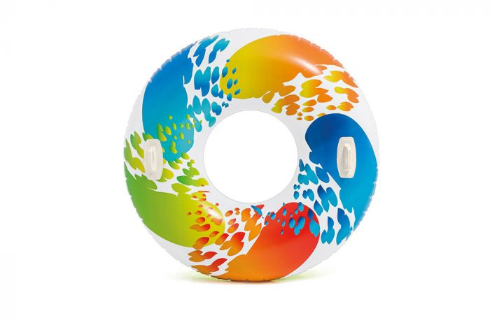 Ciambella-gonfiabile-colorata-INTEX™-Color-Whirl-(Ø-122-cm)