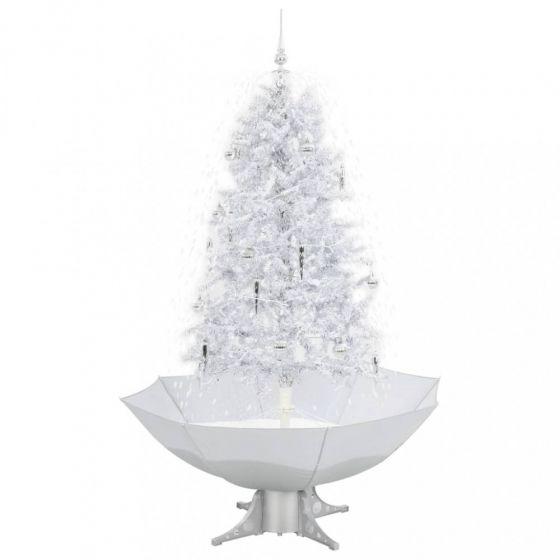 Albero-di-natale-con-neve-Bianco/Argento-170cm