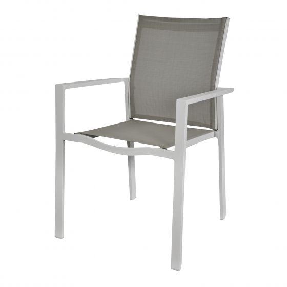 Sedia-impilabile-color-talpa/bianca-in-alluminio