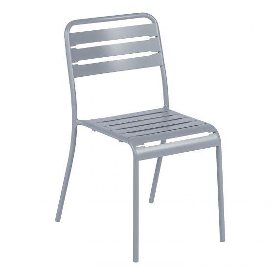 Sedia-impilabile-grigia-in-acciaio