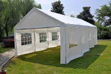Gazebo-per-feste-Deluxe-Pure-Garden-&-Living-4x8-metri,-bianco-con-pareti