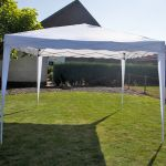 Gazebo-Easy-Up-per-feste-3x3-metri-Pure-Garden-&-Living,-bianco