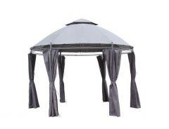 Padiglione-da-giardino-Pure-Garden-&-Living-Capri-Ø-350-cm-grigio