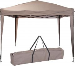 Gazebo-Easy-Up-per-feste-Pure-Garden-&-Living-3x3-metri,-tortora