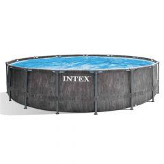Intex-Prism-Frame-Greywood-Premium-Pool---Ø-457-x-122-cm