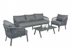 "Set-lounge-Alluminio-""Harp""---Pure-Garden-&-Living"