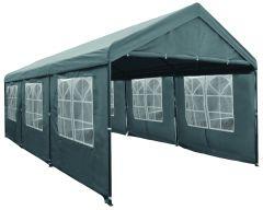 Gazebo per feste  3x6 metri Deluxe Pure Garden & Living 3x6 metri, grigio con pareti