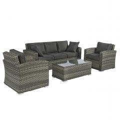"""Set lounge in vimini """"Cairo"""" - Elegant Grigio - Pure Garden & Living"""