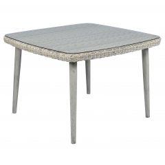 "Tavolo da giardino in vimini ""Bora"" - 110x110x75 cm - Sunset Naturel"