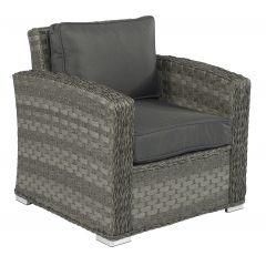 "Sedia-lounge-in-wicker-""Cairo""---Elegant-Grigio-misto"
