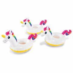 Portabicchieri unicorno Intex - 3 pezzi