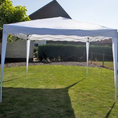 Gazebo Easy Up per feste 3x3 metri Pure Garden & Living, bianco