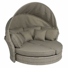 "Isola-lounge-&-lettino-lounge-""Havanna""---Mix-Nature-beige/grigio---Pure-Garden-&-Living"
