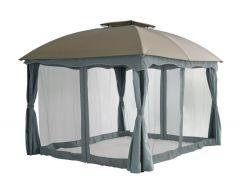 Padiglione da giardino Pure Garden & Living Barbados 3 x 3,65 metri color talpa/grigio