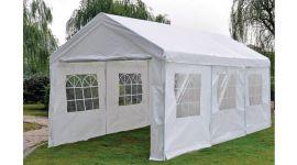 Gazebo per feste 3x6 metri Deluxe Pure Garden & Living, bianco con pareti