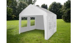 Gazebo-per-feste-4x4-metri-Pure-Garden-&-Living,-bianco-con-pareti