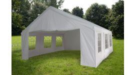 Gazebo per feste 4x6 metri Pure Garden & Living, bianco con pareti