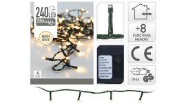 Illuminazione a LED con 240 lampadine bianco caldo