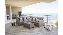 "Lounge set ""Santiago/Nova"" in Rattan – Beige"