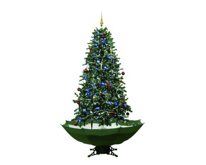 Albero di natale verde con neve - 170cm