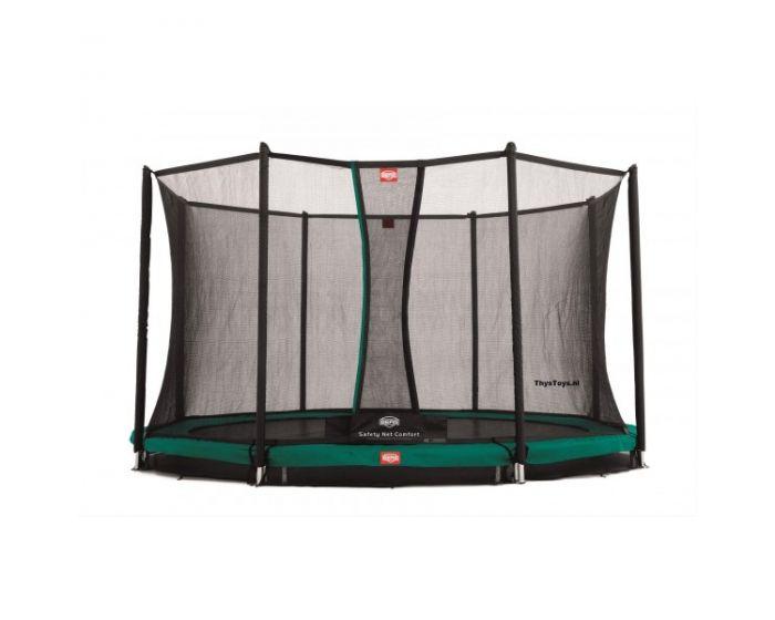 Trampolino elastico BERG Favorit Inground 430 + rete di sicurezza Comfort