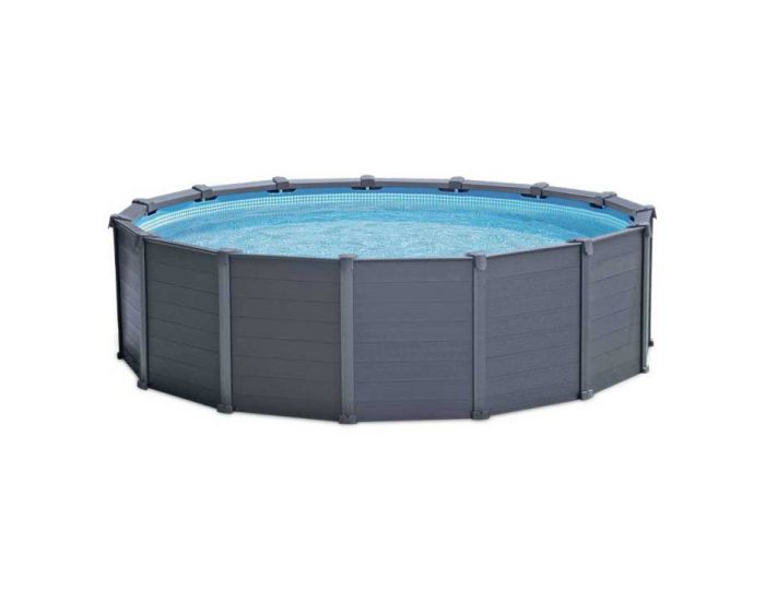 Intex Graphite Panel Piscina Ø 478 cm (set)