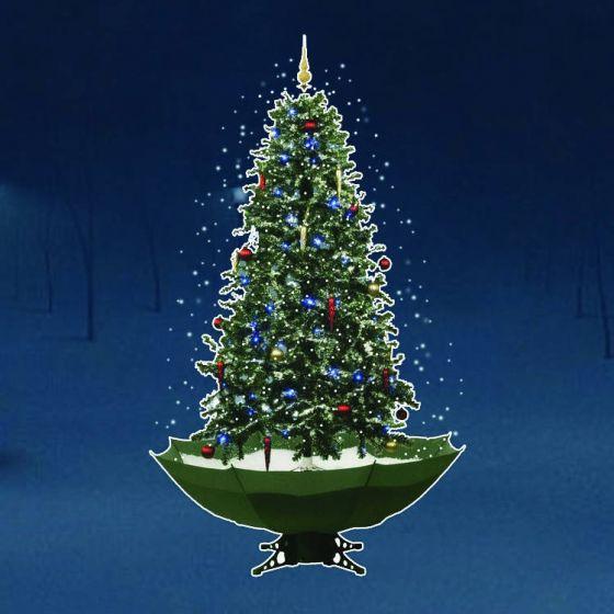 Albero Di Natale Verde Con Neve