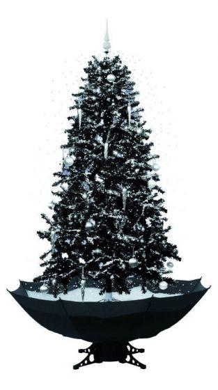 Albero Di Natale Nero.Albero Di Natale Nero Con Neve