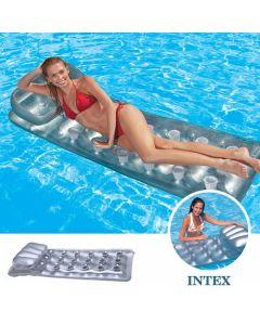 Materassino gonfiabile abbrozante 18 buchi INTEX™ in argento