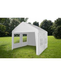 Gazebo per feste 4x4 metri Pure Garden & Living, bianco con pareti
