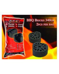 Blocco accendifuoco per barbecue  2 pezzi da 340 grammi