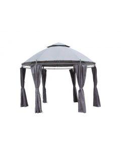 Padiglione da giardino Pure Garden & Living Capri Ø 350 cm grigio