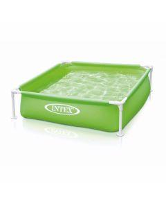Piscina quadrata per bambini INTEX™ Mini Frame - verde (122 x 122 cm)