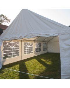 Gazebo per feste 5x8 metri, bianco con pareti laterali Pure Garden & Living