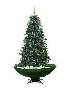 Albero di natale verde con neve - 180cm