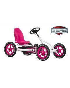 Kart a pedali BERG Buddy bianco/rosa