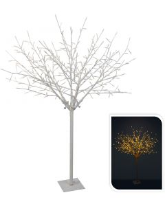 Albero bianco con rami 304LED bianco caldo 150 cm