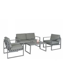 """Set lounge angolare Alluminio """"Dubai"""" - Grigio scuro - Pure Garden & Living"""
