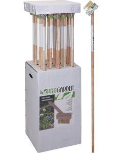 Spazzola per la rimozione delle erbacce con manico in legno