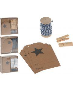 Verpakkings decoratie set