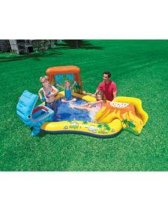 Piscina gonfiabile con postazione gioco Intex Play Center Dinosauro