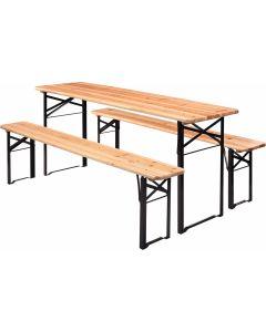 Set tavolo da birreria 220 cm