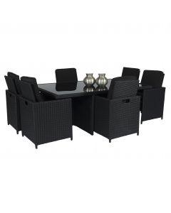 Set lounge Pure Garden & Living Cube XL nero