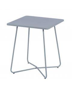 Tavolo grigio chiaro opaco in metallo