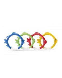 Divertente set di anelli subacquei Intex per piscina a forma di pesce