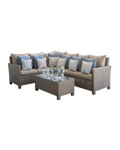 Lounge set in wicker- Set angolare Beige