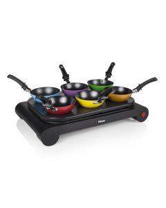 Set per wok con 6 padelle wok Tristar BP-2827