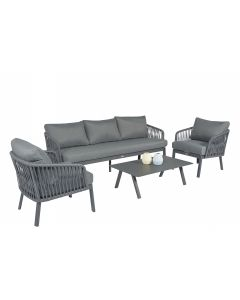"Set lounge Alluminio ""Harp"" - Pure Garden & Living"